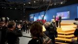 27. Parteitag der CDU Deutschlands in den Messehallen der Koelnmesse. Besichtigung der Halle.