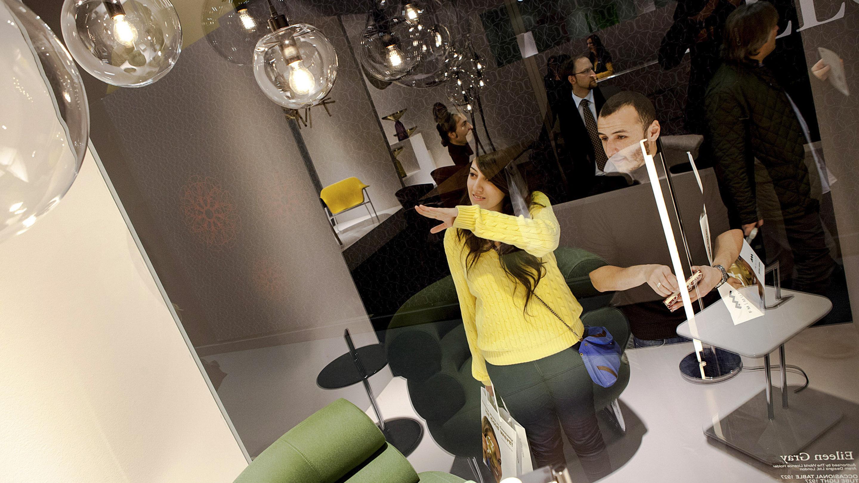 imm Cologne 2013 / Besuch und Messerundgang einer Delegation Ägyptischer Produktdesign-Studenten.
