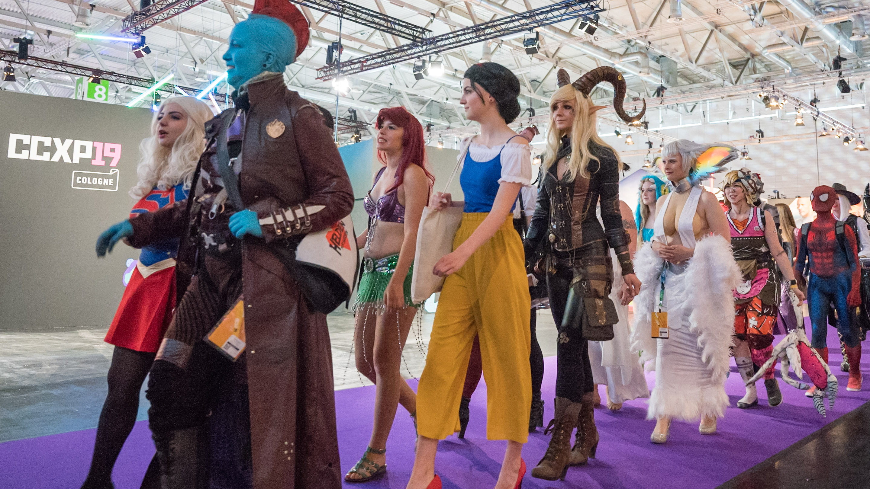 Cosplayer, Halle 8, Comic Con Experience 2019