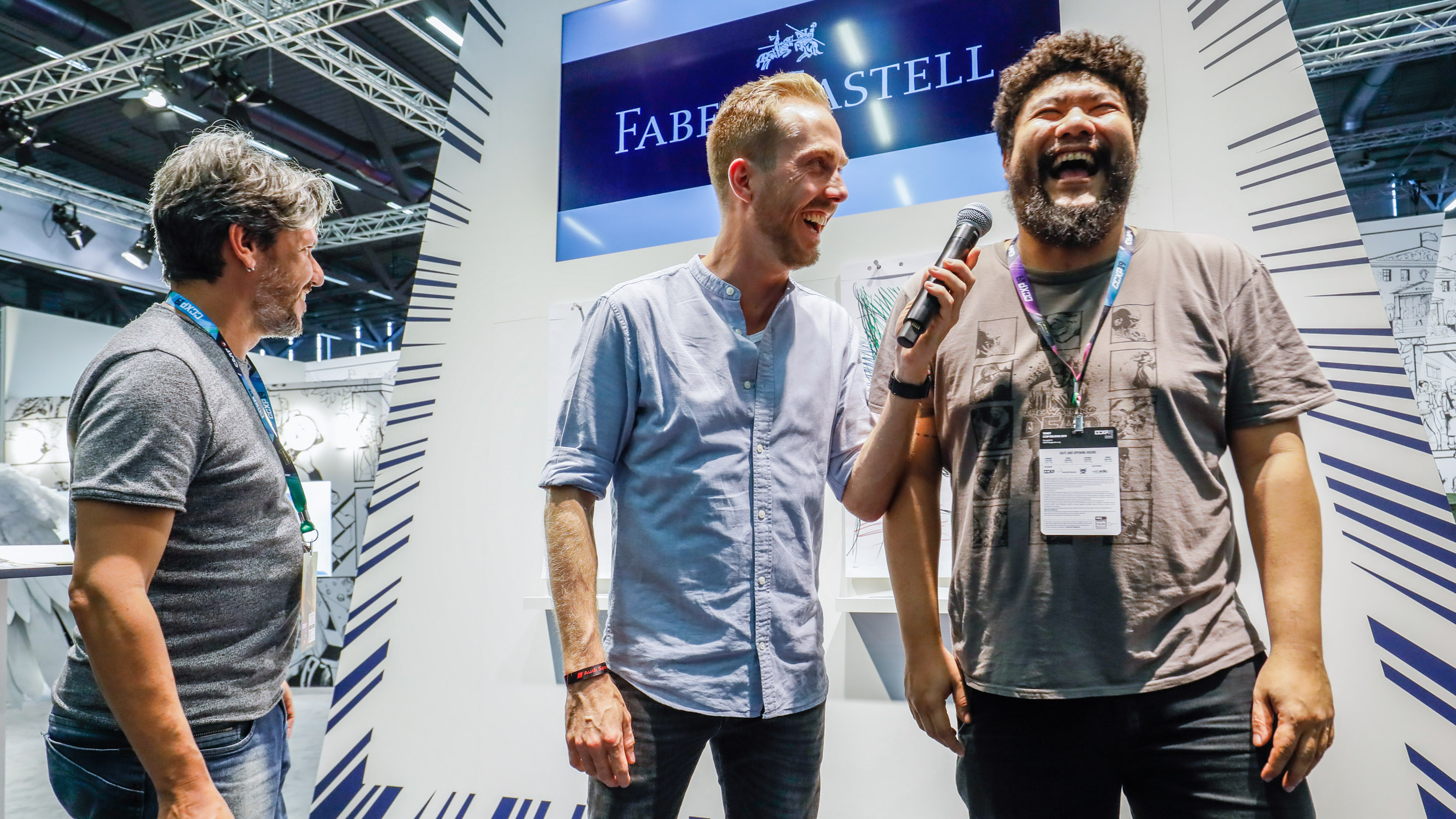 Comic Artist: Drawing Battle, Ivan Reis und Breno Tamura, Stand: Faber Castell, Halle 7, Comic Con Experience 2019
