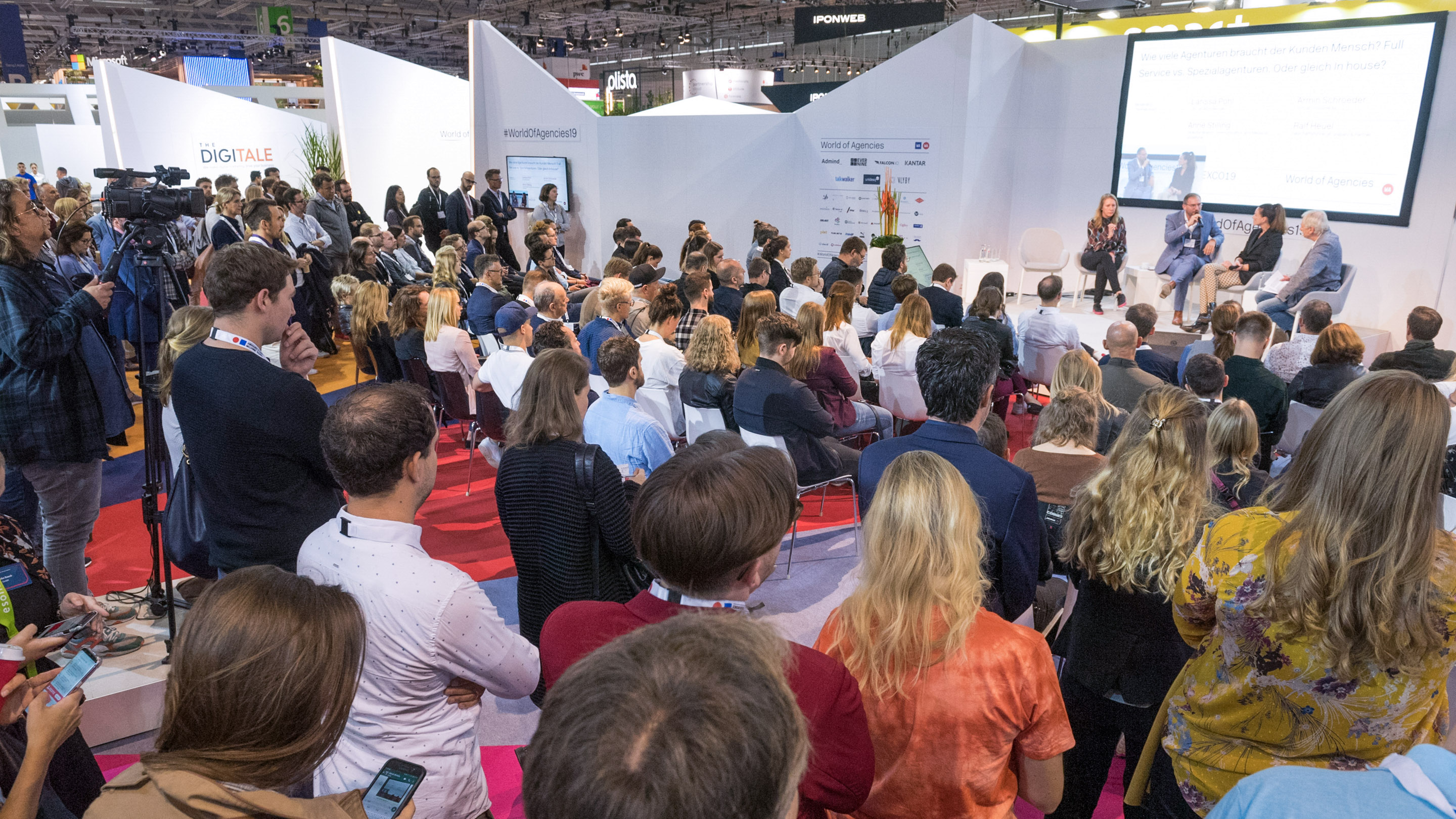 World of Agencies Bühne, Eröffnungspanel, Halle 6, DMEXCO 2019