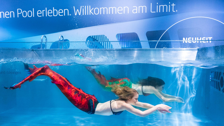 Meerjungfrauen, Stand: Speck Pumpen, Halle 7, aquanale 2019