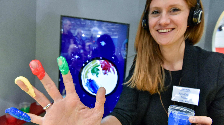 Presserundgang, Stand: Sonderschau Digitale Innovationen, Halle 6, didacta 2019