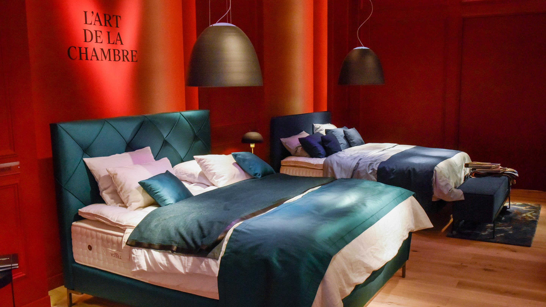Stand: Treca, Komfortabler Wohnen, Pure Atmospheres, Schlafzimmer, grün, blau, Halle 11.3, imm cologne 2020